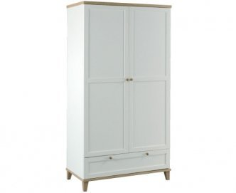LPD Furniture Boston 2 Door Wardrobe with Drawer by LPD Furniture