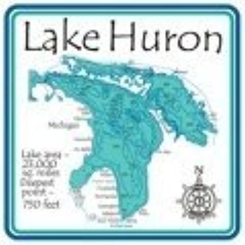 Huron Lake 4.25 Square Absorbent Coaster by CoasterStone
