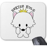 american-eskimo-dog-eskies-rule-mouse-pad