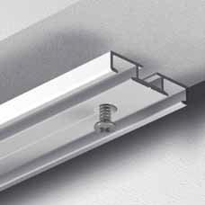 Dekoline Gardinenschiene Vorhangschiene, Aluminium, silber, alu-silber eloxierte Oberfläche, 2-läufig, vorgebohrt - 1,00 m