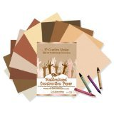 Multicultural construction paper in 10 creative shades
