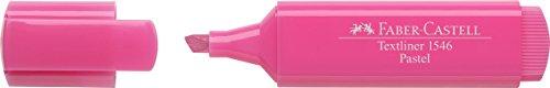 Faber-castell 154654-scatola con 10evidenziatori textliner 1546pastello, colore: rosa pastello