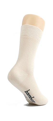 lampox Bambussocken (6x Paar) Atmungsaktiv Socken Business Sport Laufen Reduziert Schweiß (39-42, Beige) -