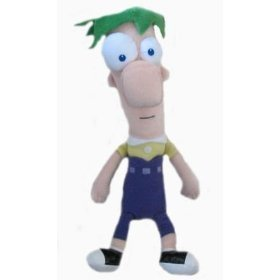 Disney Phineas and Ferb 8 Ferb Plush, soft, cuddle doll toy