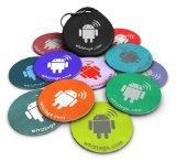 NFC Tags – Topaz 512 Chip – 10er Pack + Schlüsselanhänger + 1 Bonus Tag Gratis – mit Android Beschreib- und Programmierbar - Rückseite Selbstklebend - Samsung Galaxy S6 S5 S4 Note 4 - HTC One First One X Droid DNA - Sony Xperia - Nexus - Smart Tags – (Nfc Sticker)