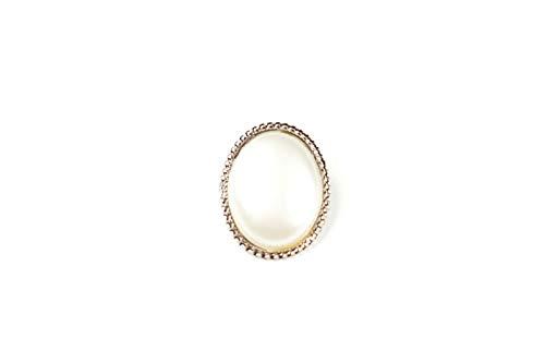 Brosche im Vintage-Stil mit Perlen in silbernem Gehäuse - Kostüme, Kleider, Basteln 50 50