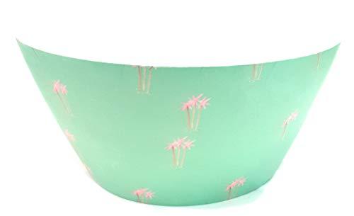 J j a a - insalatiera in fibra di bambù sirococo, 25,5 cm, colore: verde, motivo palme rosa