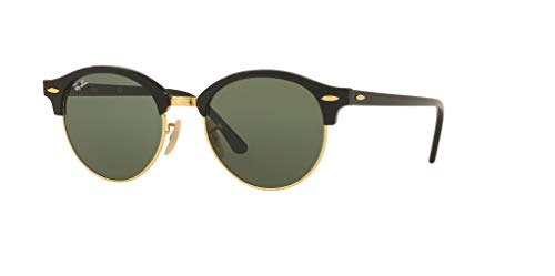 Ray-Ban RB4246 CLUBROUND 901 51M Black/Green Sunglasses