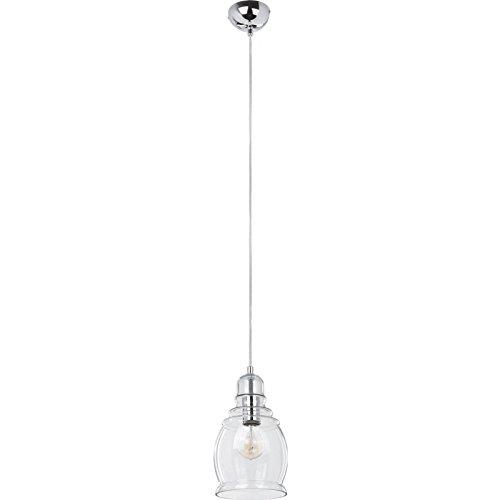 Paris Prix - Lampe Suspension Verre Nova 16cm Transparent