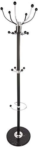 Haku möbel 88591 attaccapanni acciaio/marmo cromato/nero 176 cm