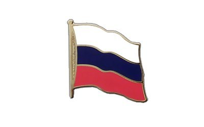 Russland Flaggen Pin, russische Fahne 2x2cm, MaxFlags®