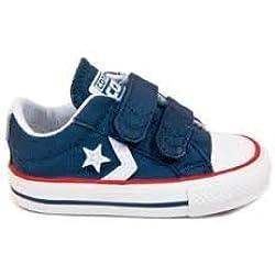 Converse Star Player EV - Zapatillas infantiles de lona, AZUL OSCURO, 19