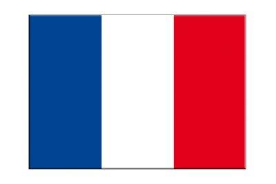 Frankreich Flagge, französische Aufkleber, 5 Stück - 7 x 10 cm, MaxFlags® -