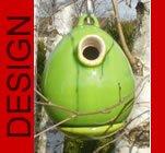 hochwertiges design Keramik Vogelhaus - Nistkasten - Egg Apfelgrün