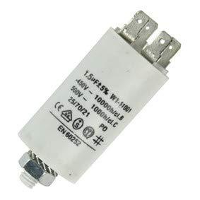 Fixapart 11001 Anlaufkondensator Betriebskondensator 1,5uF 1,5µF mit STECKER (Motorkondensator)