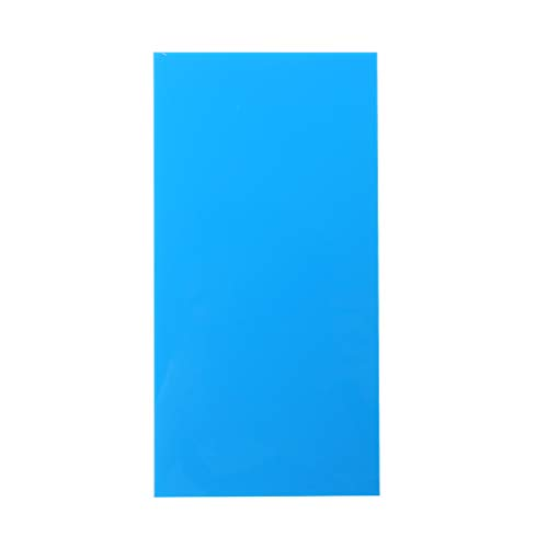 Ycncixwd Plexiglas-Board, Acryl-Blatt, 10 x 20 cm, zum Basteln von Spielzeug, Modellbau blau