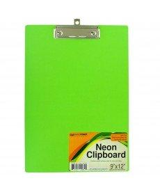 NEON Klemmbrett mit steel-chrome vergoldet Clip