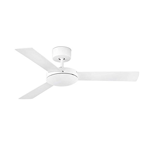 Faro Barcelona Mallorca 33603 – Ceiling Fan Without Light, Metal and MDF Blades Reversible White/Maple, White