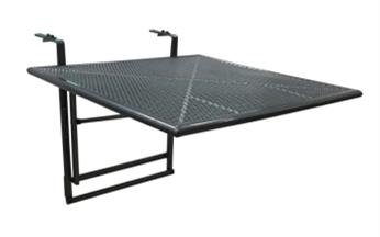 """Ribelli® Balkonhängetisch """"Gjøvik"""" XL in Anthrazit Grau – Balkontisch zum Einhängen aus Streckmetall – Balkon Hängetisch klappbar – Tisch für Balkongeländer"""