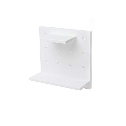 Anddod Towel Holder Plate Decoration Toilet Roll Paper Rack Plastic Wall Mount Kitchen Hanging Storage - White
