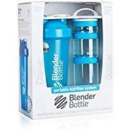 Aqua : BlenderBottle Combo-Pack: (1) 28 Oz Classic Bottle + (1) GoStak Starter 3PAK (Aqua)