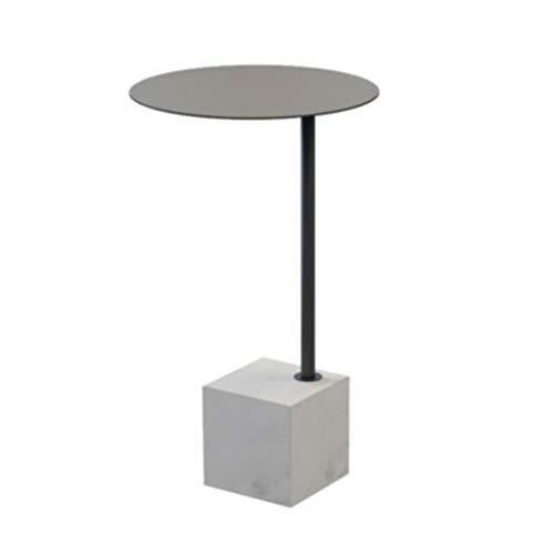 stelltisch, Runder Sofa-Beistelltisch-Kaffee-Kleiner Marmor-Ende-Tabellen-Tee-Tabellen, die Tabellen für Innenministerium nisten (Farbe : Gray) ()