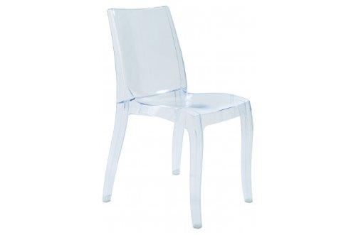 Grandsoleil dès la lumière Transparente en Polycarbonate, Chaise empilable, Cristal Clair, 54 x 50 x 84 cm