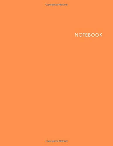 Notebook Orange Cover: Lined Notebook - Size (8.5 x 11 inches) - 120 Pages with Cream Paper
