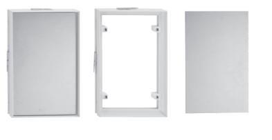 Fliesenrahmen Kunststoff weiß mit Magneten 409 x 256 mm