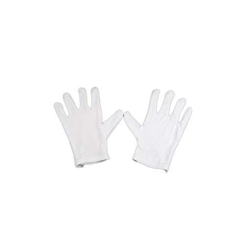 Laileya Cerimonia 12pcs Cotone Bianco Guanti da Lavoro Guanti Sottili Elastici Bianchi di Protezione Elastica gioielleria anulare di Test di qualità Guanti