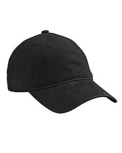 Brushed Heavy Weight Twill Cap BLACK OS Heavy Brushed Twill Cap