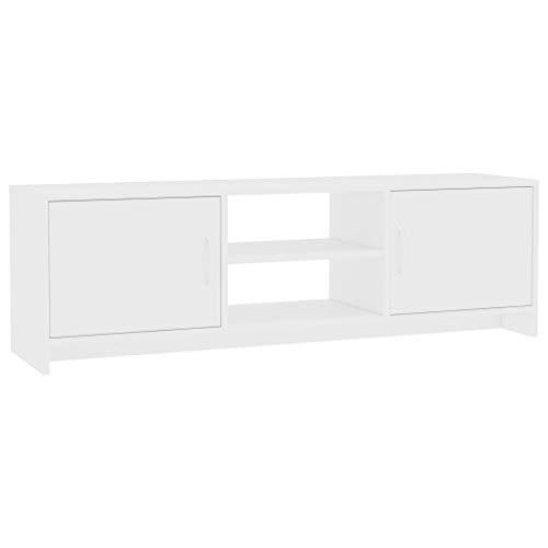 Tidyard TV Lowboard Board Fernseher TV-Schrank Mit 2 Regalen und 2 Türen,Fernsehschrank Fernsehtisch 120 x 30 x 37,5 cm,Fernseher-Ständer TV-Möbel Unterschrank,Spanplatte