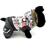 PEGASUS SELMAI süßes Hunde-Kostüm mit Kapuze, für den Winter, Fleece, Bären-Muster, für kleine Rassen, Größe L, (Yorkie Bär Kostüm)