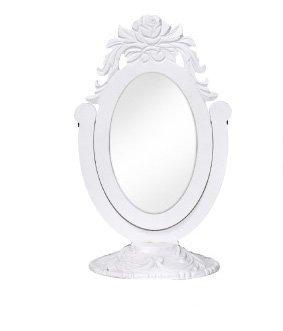 Specchiera bianca ornata di fregi in legno stile vintage L'ARTE DI NACCHI DS-66