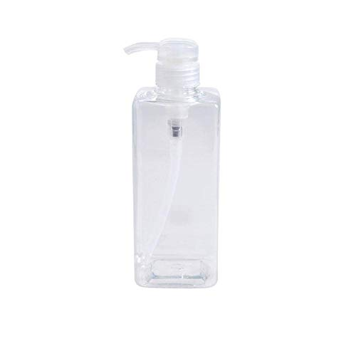 Xianjun 600 ML Refillable Transparent Container with Pump Dispensers Empty Bottle for Shampoo Shower Gel Cosmetic