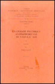 La Grande Polemique Antinestorienne De Yahya B. 'adi, I. Ar. 37.