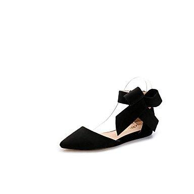 Wuyulunbi @ Femmes Chaussures Printemps Automne Confort Appartements Appartement Punta Bowknot Pour La Fête De Mariage Et Soirée Bleu Rouge Noir Us8.5 / Eu39 / Uk6.5 / Cn40