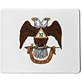 Freimaurer 32nd Grad mit zwei Spitzen Eagle Scottish Rite Maus Pad Spitzen-pads