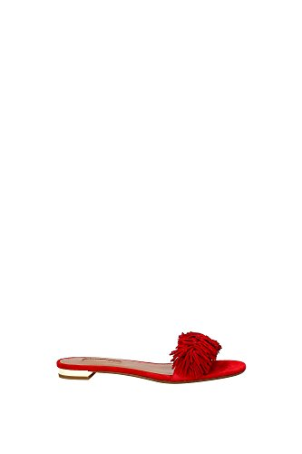 Ciabatte e Zoccoli Aquazzura Donna (WTSFLAA0SUEF00) Rosso