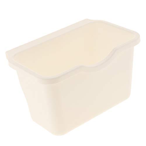 F Fityle Küchenschrank Hängen Müllsackständer Plastik Lagerung Hängende Aufbewahrungsbox Küche Abfallbehälter - Weiß