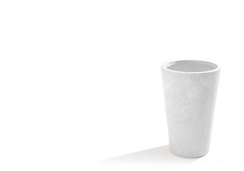 Verdelook Pot de Jardin Moyen Maxime Couleur Blanc Dimensions 40 x 40 x H 61 cm