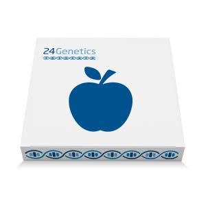 24Genetics - Test de ADN de NUTRIGENÉTICA - Prueba genética de Nutrición - Incluye kit de ADN