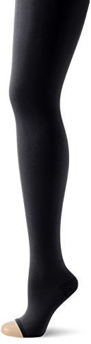 Relaxsan Damen Strumpfhose Atm Schwangerschaftsstrumpfhose aus Mikrofasern, Klasse I, Offene Fußspitze Schwarz (Schwarz 001)