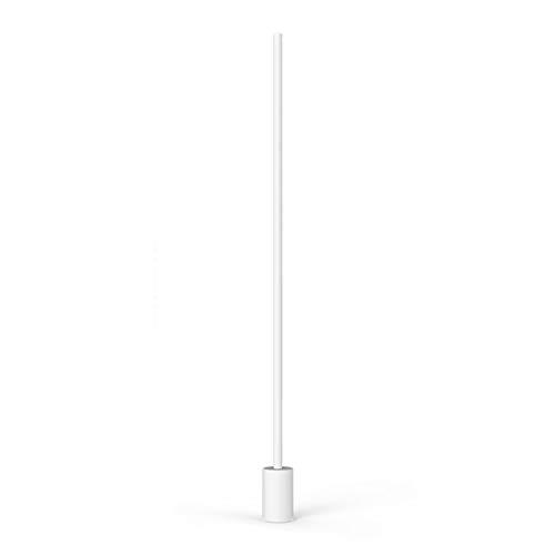 *Stehlampe Stehlampe LED Schlafzimmer Nachttischlampe Wohnzimmer Sofa Couchtisch Fernbedienung Leselampe Fußschalter Stehlampe gewölbt (Farbe : B-Weißes Licht)
