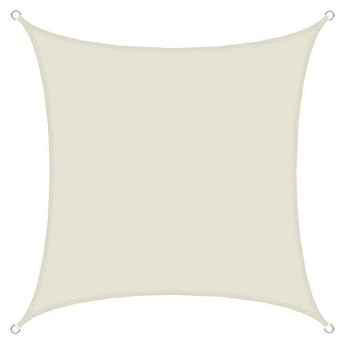 Amanka vela parasole 2x2m tendone da ombreggiatura rettangolare in poliestere idrorepellente upf50+ per giardino beige