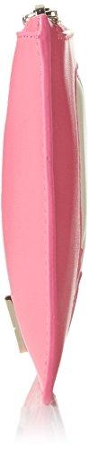Moschino Damen Jc5307 Clutch, 1x13x20 cm Pink/Ivory