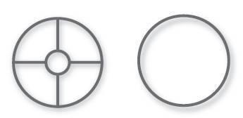 VBS Lampen-Ringe-Set, weiß, 2 Stück, Ø 40 cm, E 27