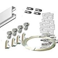 Pack Basic RM de 150cm Guías de aluminio para Colgar Cuadros (Blanco) con 4 colgadores Nylon
