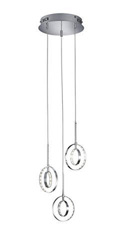 Reality Leuchten Prater Pendelleuchte, Metall, 4.5 W, Chrom