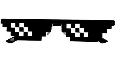 TO_GOO Thug Life Brille 8-Bit Pixel Protokoll mit Ihrer Sonnenbrille Sonnenbrille Unisex Spielzeug